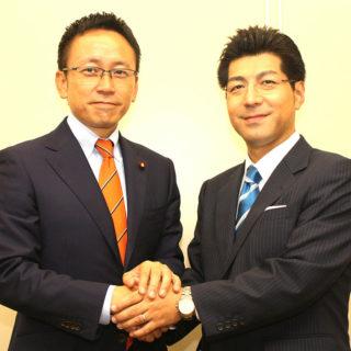 参議院選挙・愛知選挙区の候補に公認された里見りゅうじさんと懇談の機会を得ました