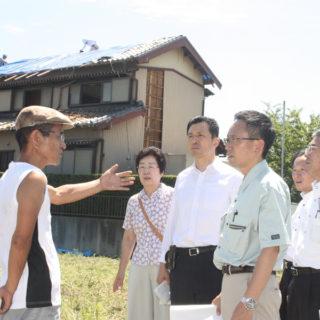 台風5号の被災地域に急行