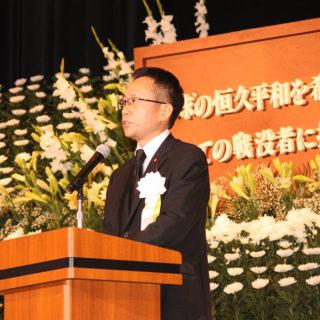 豊川市平和祈念式典に出席