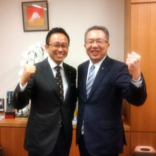 中川前衆院議員が東京事務所を来訪