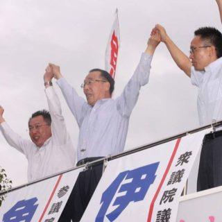 三重県の4箇所で「魚住ゆういちろう」の街頭演説会