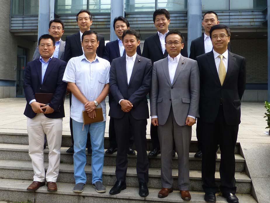 北京大学での一枚