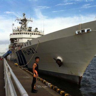 海上保安庁巡視船「みずほ」と本物の「海猿」こと潜水士のお兄さん