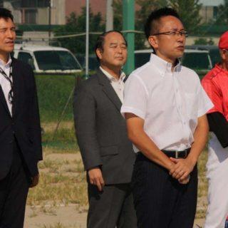 新妻ひでき参院議員と共にご挨拶をさせて頂いた、福田名古屋市議(南区)のソフトボール大会「福田杯
