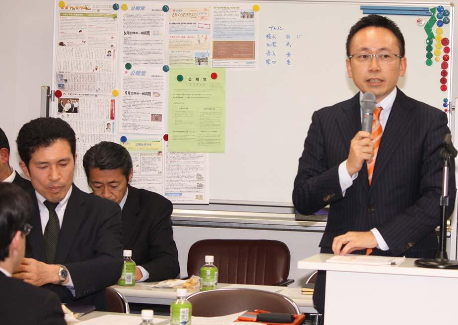 新妻ひでき参院議員とともに三重県で青年局会議