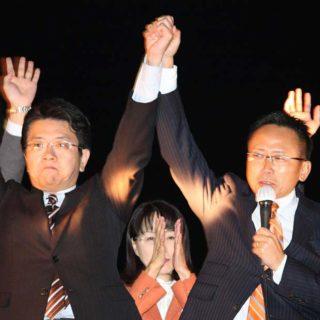 名古屋駅前にて街頭演説会