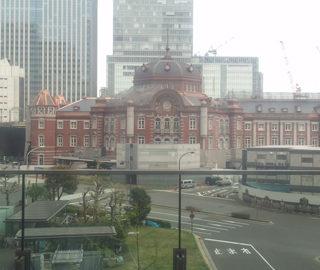 復元工事が進む東京駅