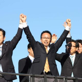 山口代表が愛知県入り。名古屋市中区栄周辺にて街頭演説会