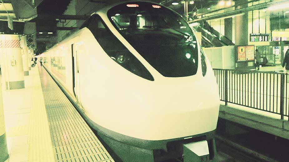 写真は、帰りにいわき駅から乗車したスーパーひたち。上野駅にて。