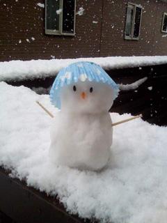"""長女がつくってくれた""""雪だるま"""""""