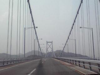 長大橋をわたり広島県因島市へ