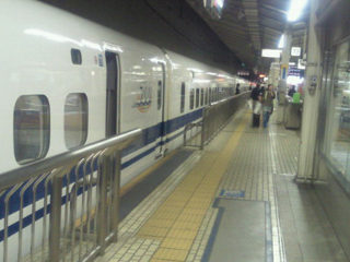 新幹線で移動