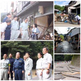 関市上之保では、津保川の氾濫により甚大な被害が発生