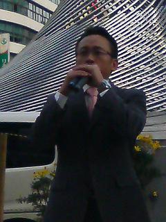 名古屋駅前にて魚住参院議員、木下名古屋市議(中川区)とともに本年初街頭を実施
