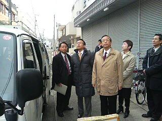 谷口総務副大臣と共に愛知県名古屋市内での地デジに関する調査を視察
