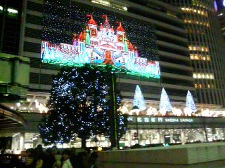 名古屋駅前、タワーズのイルミネーション