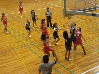 長女のバスケットボールの試合を観戦