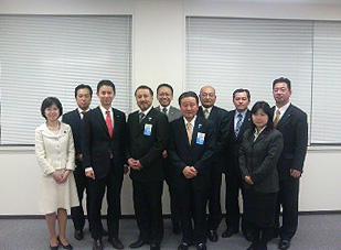 日本商工会議所青年部の代表の方々と懇談の機会