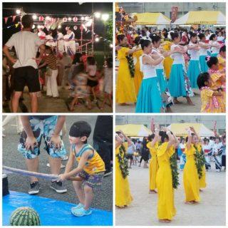 フラダンスやスイカ割りなど、子ども達も交えた地域交流の貴重な機会
