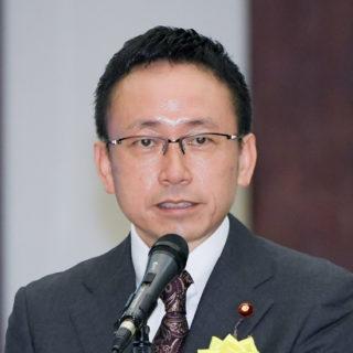 全日本海員組合(JSU)の定期全国大会に出席し、あいさつ
