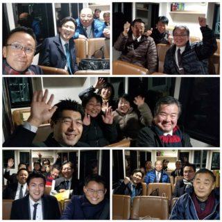 篠島にて「安江のぶお」の挨拶をかねて国政報告会