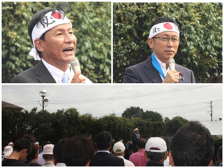 豊川市長選、竹本ゆきお候補