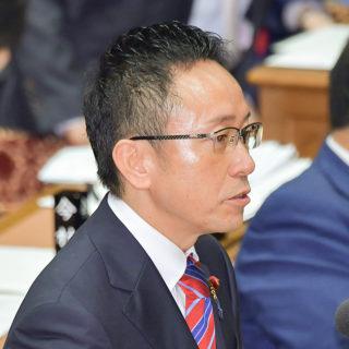質問する伊藤氏=6日 衆院予算委