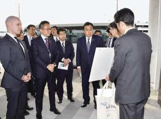 観光・物流を活性化/赤羽国交相が中部空港を視察/愛知県