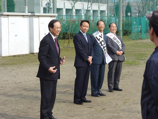 「名古屋グリーンソフトボール連盟」開会式に参加