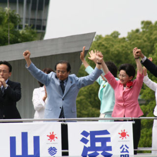 名古屋・栄で街頭演説会を開催