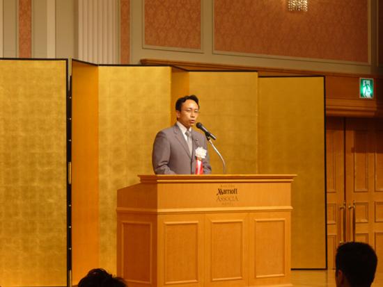県本部主催の政経セミナーに出席