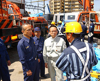 JR福知山線列車事故現場を調査