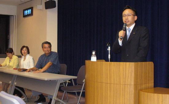 三重・上野市の支部会に出席