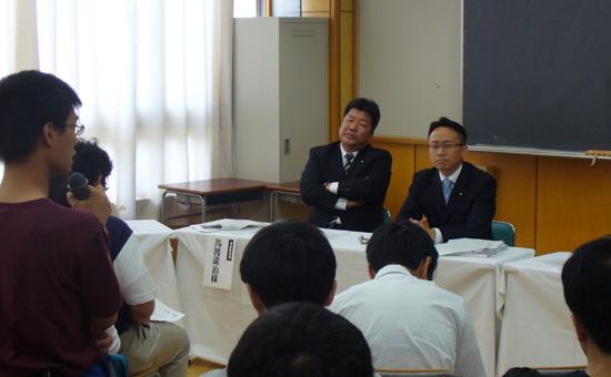 東海学園主催の国会討論会に参加