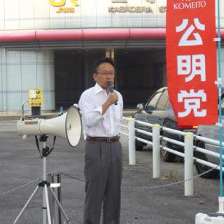 JR笠寺駅前で街頭演説