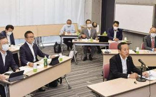 狭あい道路の解消を/オンラインで政策講座開催/党愛知県本部