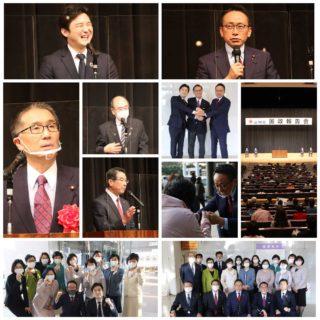 安江のぶお国政報告会に出席