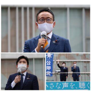 安江参院議員と街頭活動