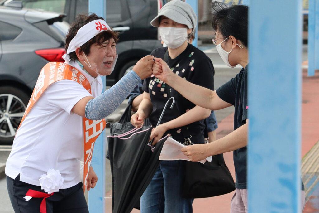 松阪市議選・奥出かよこ候補