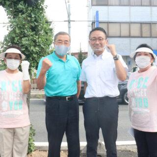 自民党・鈴木じゅんじ衆院議員とともに自公合同で街頭演説