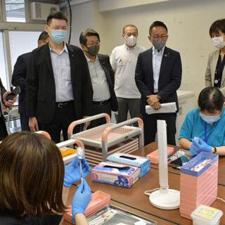 接種完了の前倒しへ/伊藤氏ら大規模会場を視察/名古屋市